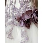 A-line Wedding Dress - White/Ivory Chapel Train Strapless/Sweetheart Satin Wedding Dresses