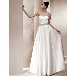 A-line/Princess Plus Sizes Wedding Dress - Ivory Floor-length Sweetheart Satin
