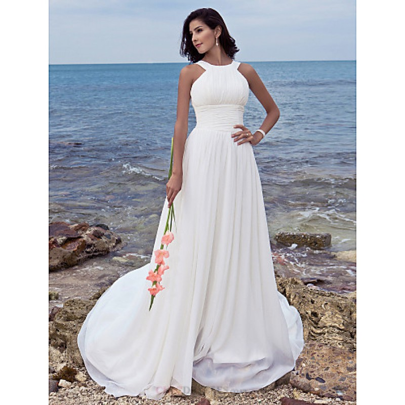 A Line Petite Plus Sizes Wedding Dress Ivory Sweep