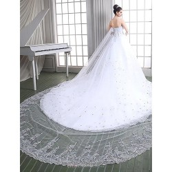 Ball Gown Floor-length Wedding Dress -Sweetheart Tulle