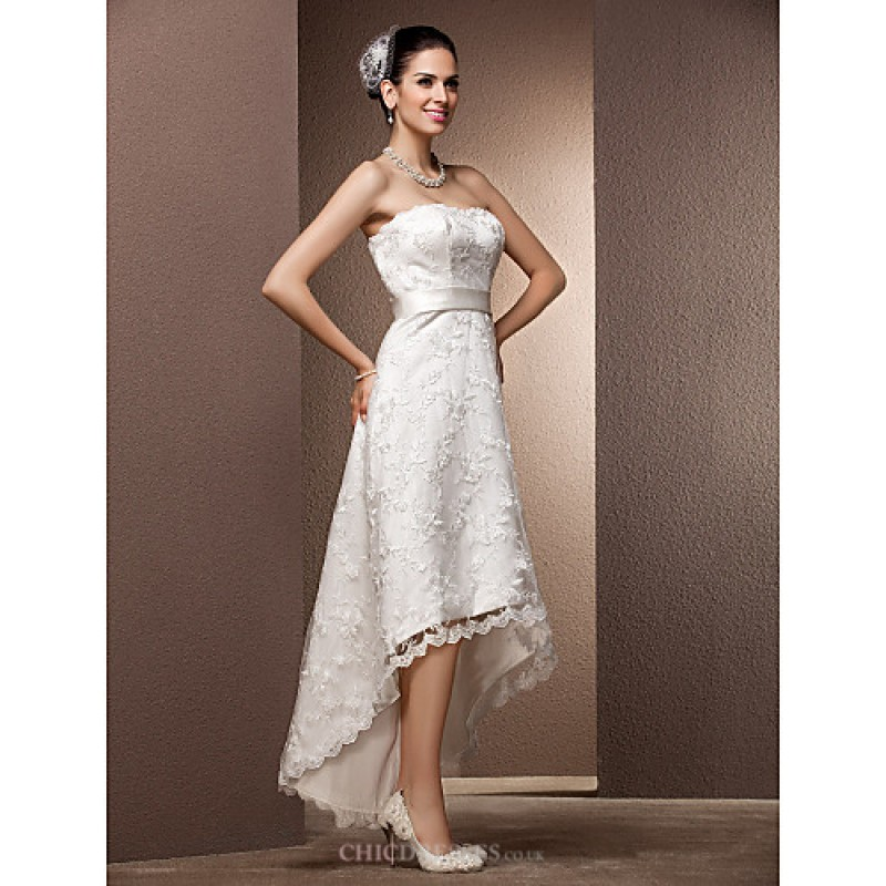 A Line Princess Plus Sizes Wedding Dress Ivory
