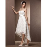 A-line/Princess Plus Sizes Wedding Dress - Ivory Asymmetrical Sweetheart Lace Wedding Dresses