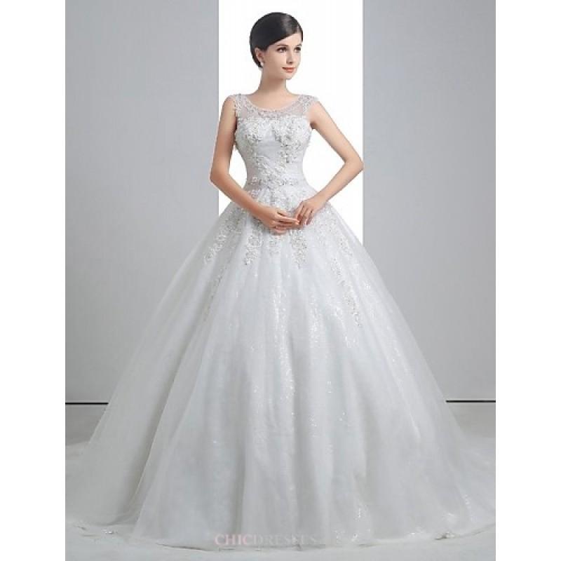 Linen Wedding Dress.A Line Wedding Dress White Floor Length Scoop Linen