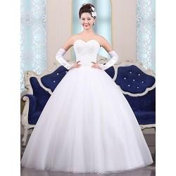 Ball Gown Floor Length Wedding Dress Sweetheart Tulle