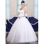 Ball Gown Floor-length Wedding Dress -Sweetheart Tulle Wedding Dresses