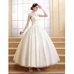Ball Gown Ankle-length Wedding Dress -Scalloped-Edge Tulle Wedding Dresses