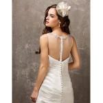 Fit & Flare Plus Sizes Wedding Dress - Ivory Sweep/Brush Train Sweetheart Tulle/Nylon Taffeta Wedding Dresses