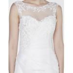 - Trumpet/Mermaid Wedding Dress - Ivory Court Train Scoop Organza Wedding Dresses