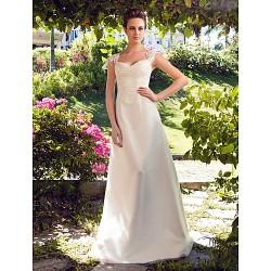 A-line/Princess Plus Sizes Wedding Dress - Ivory Floor-length Sweetheart Satin/Tulle