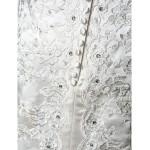 A-line Plus Sizes Wedding Dress - Ivory Sweep/Brush Train Off-the-shoulder Satin Wedding Dresses