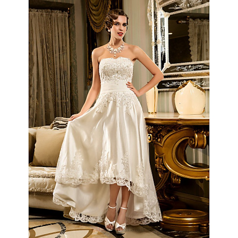 Wedding Dresses For Over 50s Uk: A-line Petite / Plus Sizes Wedding Dress