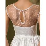 Sheath/Column Wedding Dress - Ivory Floor-length Scoop Tulle Wedding Dresses