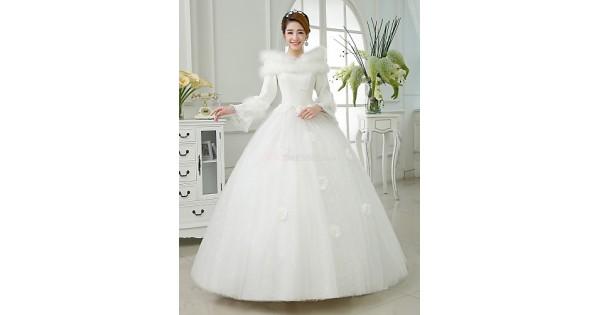Satin Ball Gown Wedding Dress: Ball Gown Floor-length Wedding Dress -Jewel Satin,Cheap Uk