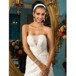 A-line Plus Sizes Wedding Dress - Ivory Court Train Strapless Satin Wedding Dresses