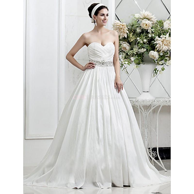 A-line/Princess Plus Sizes Wedding Dress