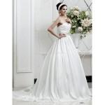 A-line/Princess Plus Sizes Wedding Dress - Ivory Court Train Sweetheart Taffeta Wedding Dresses