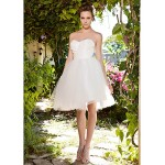 Ball Gown Plus Sizes Wedding Dress - Ivory Knee-length Sweetheart Taffeta/Tulle Wedding Dresses