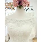 Trumpet/Mermaid Court Train Wedding Dress -Bateau Lace Wedding Dresses
