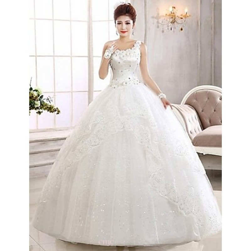 Ball Gown Ankle-length Wedding Dress -One Shoulder Lace,Cheap Uk ...
