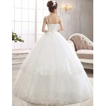 Ball Gown Ankle-length Wedding Dress -One Shoulder Lace Wedding Dresses