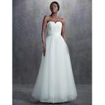 A-line Court Train Wedding Dress -Sweetheart Tulle Wedding Dresses
