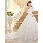 Ball Gown Wedding Dress Chapel Train Sweetheart Lace Wedding Dresses