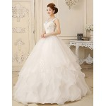 Ball Gown Floor-length Wedding Dress -Jewel Organza Wedding Dresses
