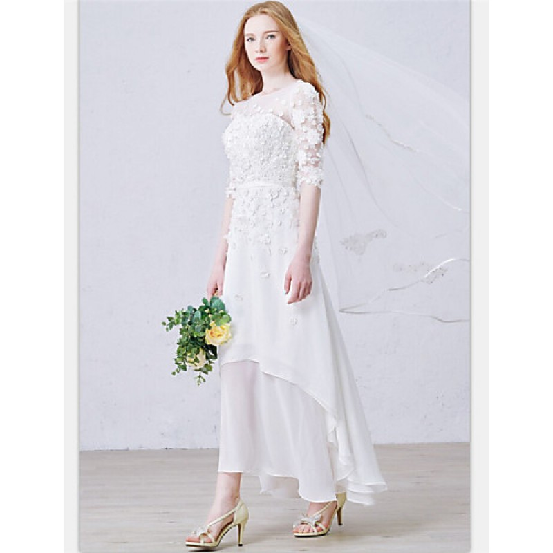 A-line Ankle-length Wedding Dress