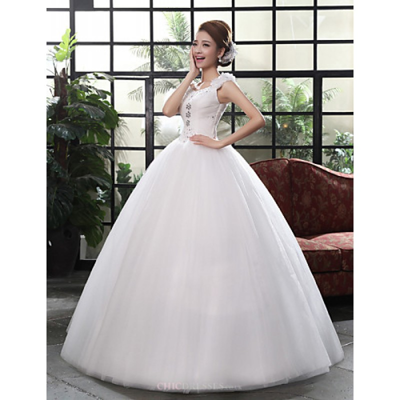 Ball Gown Wedding Dresses Uk: White Floor-length Straps Lace