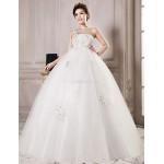 Ball Gown Floor-length Wedding Dress -One Shoulder Tulle Wedding Dresses