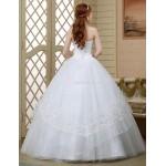 Ball Gown Wedding Dress - White Floor-length Sweetheart Tulle Wedding Dresses