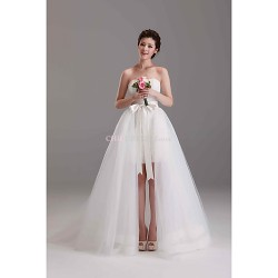 Ball Gown Court Train Wedding Dress -Off-the-shoulder Lace