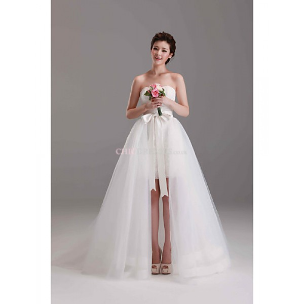 Ball Gown Court Train Wedding Dress -Off-the-shoulder Lace Wedding Dresses