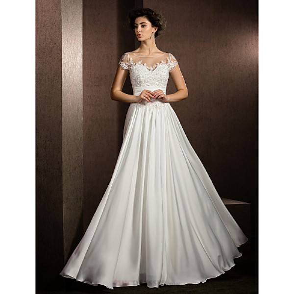 A line petite plus sizes wedding dress ivory floor for Plus size wedding dresses uk