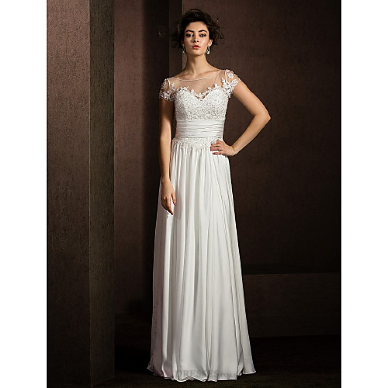 A-line Petite / Plus Sizes Wedding Dress