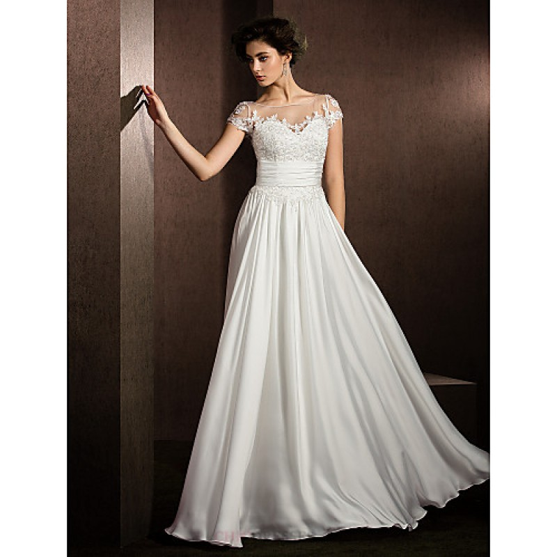 A line petite plus sizes wedding dress ivory floor for Wedding dresses petite sizes