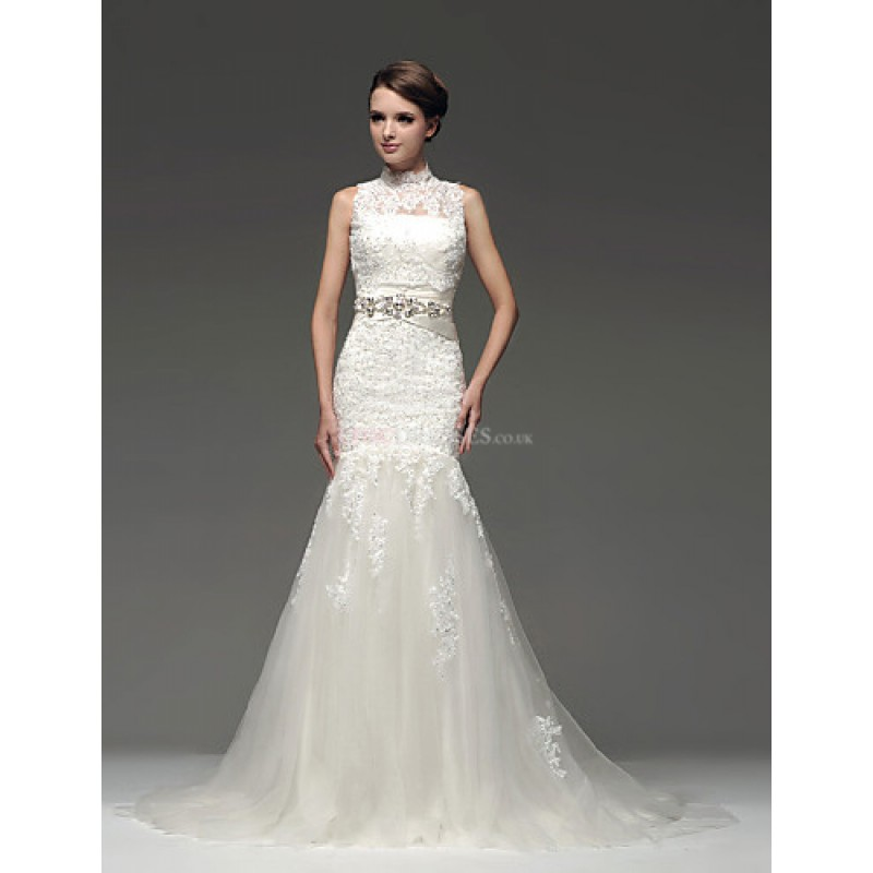 Fit Amp Flare Floor Length Wedding Dress Strapless Satin