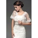 Fit & Flare Floor-length Wedding Dress -Strapless Satin Wedding Dresses