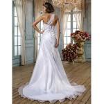 Trumpet/Mermaid Plus Sizes Wedding Dress - White Sweep/Brush Train Sweetheart Organza Wedding Dresses