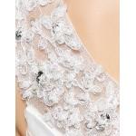 Trumpet/Mermaid Wedding Dress - White Court Train V-neck Organza Wedding Dresses