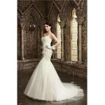 Trumpet/Mermaid Wedding Dress Court Train Sweetheart Lace/Satin/Tulle Wedding Dresses