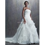 A-line,Ball Gown Chapel Train Wedding Dress -Sweetheart Organza Wedding Dresses
