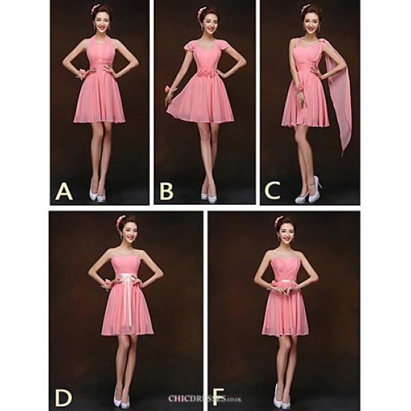 Mix & Match Dresses Short/Mini Chiffon 5 Styles Bridesmaid Dresses (2839951) Bridesmaid Dresses