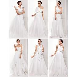 Mix&Match Convertible Dress Sweep/Brush Train Chiffon A-line/Princess Wedding Dress (1539446)
