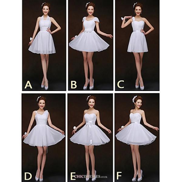 Mix & Match Dresses Short/Mini Chiffon 6 Styles Bridesmaid Dresses (2840133) Bridesmaid Dresses