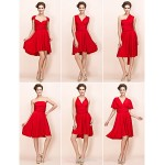 TS Couture Mix&Match Convertible Dress Knee-length Sheath/Column Jersey Cocktail Dress Bridesmaid Dresses