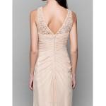 Asymmetrical Chiffon / Lace Bridesmaid Dress - Champagne A-line Bateau Bridesmaid Dresses