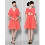 Mix&Match Convertible Dress Knee-length Chiffon A-line Dress (3766748) Bridesmaid Dresses