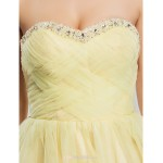 TS Couture Cocktail Party / Sweet 16 Dress - Daffodil Plus Sizes / Petite Ball Gown / A-line Sweetheart / Strapless Knee-length Tulle Bridesmaid Dresses