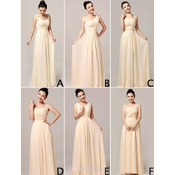 Mix & Match Dresses Floor-length Chiffon 6 Styles Bridesmaid Dresses (3229019)